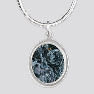 Echo16x16 Silver Oval Necklace