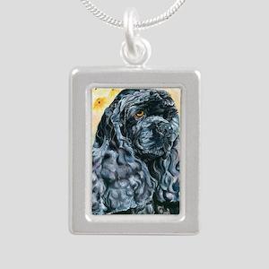 Echo16x16 Silver Portrait Necklace