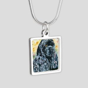Echo16x16 Silver Square Necklace