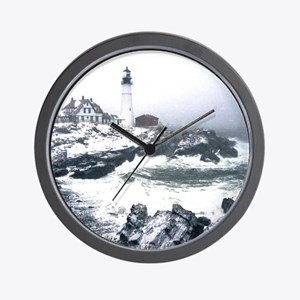 PortlandHeadlight3 Wall Clock