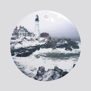 PortlandHeadlight3 Round Ornament