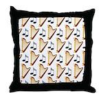 Cute Harp Music Design Throw Pillow