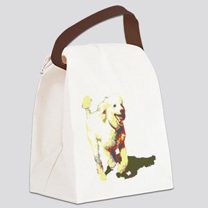 fetch-poodle Canvas Lunch Bag