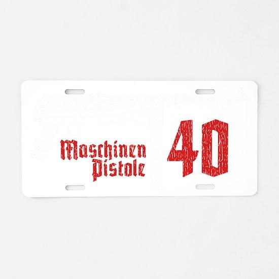 MP40 Aluminum License Plate
