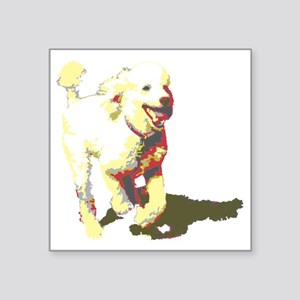 "fetch-poodle Square Sticker 3"" x 3"""