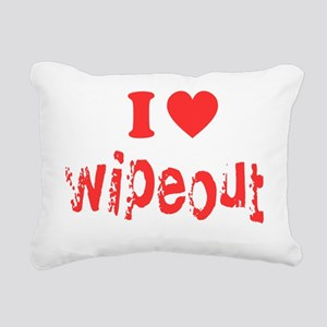 i heart wipeout red Rectangular Canvas Pillow