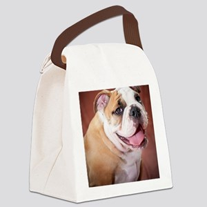 BulldogPuppy Canvas Lunch Bag