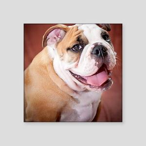 """BulldogPuppy Square Sticker 3"""" x 3"""""""