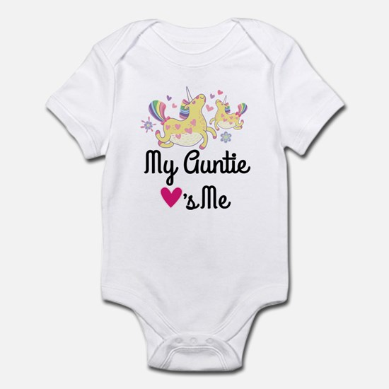 My Auntie Loves Me Girls Unicorn Body Suit