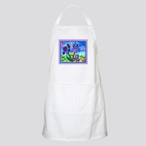 Iris At Sunrise Lavender Apron (Light)