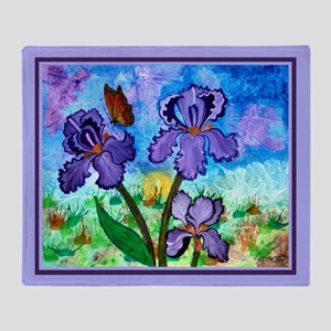 Iris At Sunrise Lavender 60X50 Throw Blanket