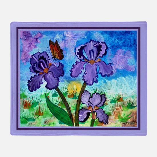Iris At Sunrise Lavender 60X50 Throw Blanket