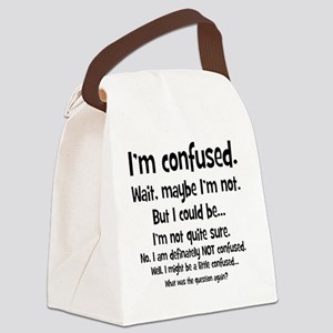 imconfused1 Canvas Lunch Bag