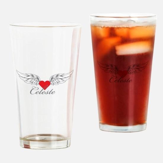 Angel Wings Celeste Drinking Glass