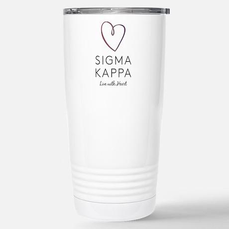 Sigma Kappa Heart Travel Mug