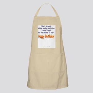 Blue Boid inside Apron