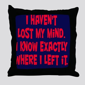 lostmymind_rnd1 Throw Pillow