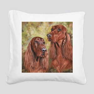 Irish Setter_CB Square Canvas Pillow