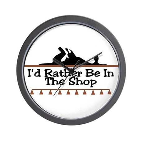 I'd Rather Be In The Shop Wall Clock