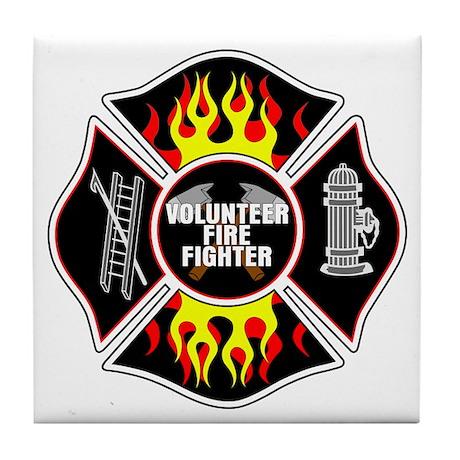 Volunteer Fire Dept Tile Coaster