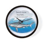 Send More Tourists Wall Clock
