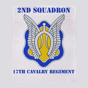 2-17TH CAV RGT WITH TEXT Throw Blanket