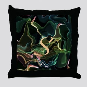 monogram freely selectable, flameart Throw Pillow