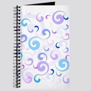 Blue and Purple Swirls Journal