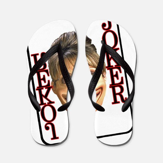 sarah joker single card Flip Flops