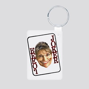 sarah joker single card Aluminum Photo Keychain