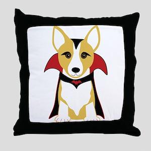 Corgi Vampire Throw Pillow