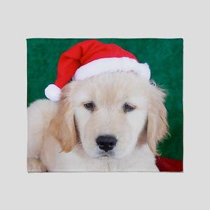 Golden Retriever Christmas Keepsake  Throw Blanket