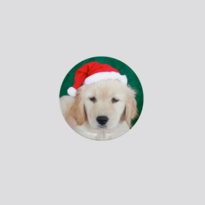 Golden Retriever Christmas Keepsake Bo Mini Button