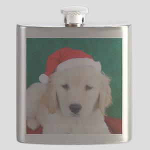 Golden Retriever Christmas Keepsake Box, Coa Flask