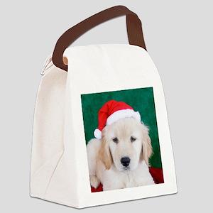 Golden Retriever Christmas Keepsa Canvas Lunch Bag