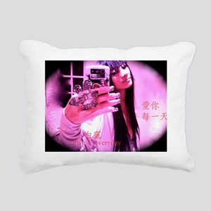 love from Bai Ling Rectangular Canvas Pillow