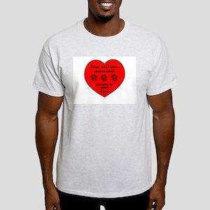 Pawprints On The Heart Ash Grey T-Shirt