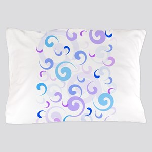 Blue and Purple Swirls Pillow Case