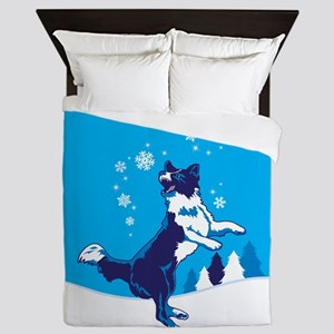 catch_snowflake_orn_2 Queen Duvet