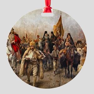 migrationsmallposter Round Ornament