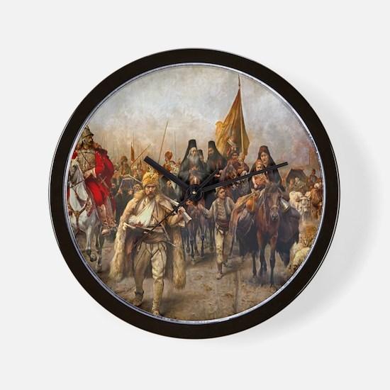 migrationsmallposter Wall Clock
