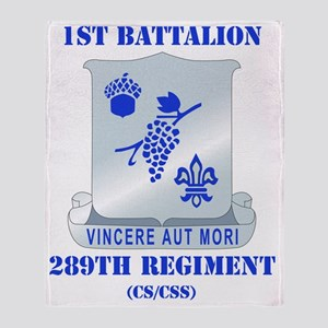1-289TH RGT WITH TEXT Throw Blanket