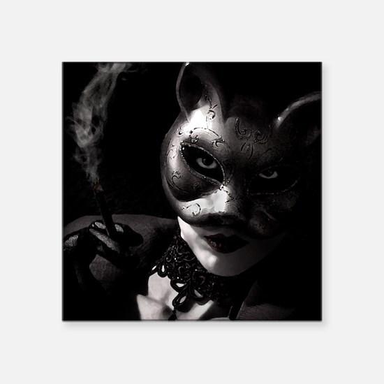 "Bad Kitty, Box Square Sticker 3"" x 3"""