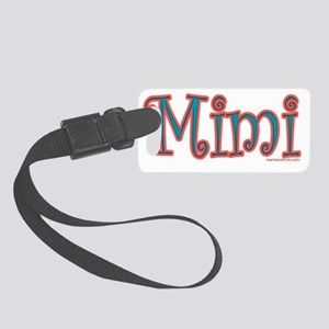 REDANDBLUEMIMICURLZ copy copy Small Luggage Tag