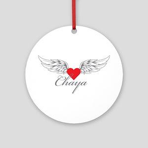 Angel Wings Chaya Ornament (Round)