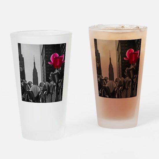 (4) NY Tulips  bw + Drinking Glass
