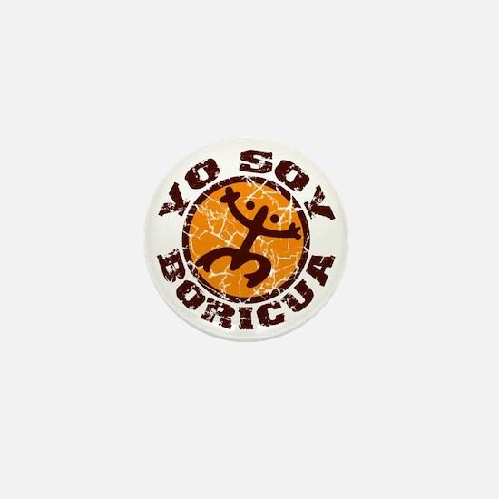 Yo Soy Boricua Brown-Orange Mini Button