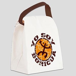 Yo Soy Boricua Brown-Orange Canvas Lunch Bag