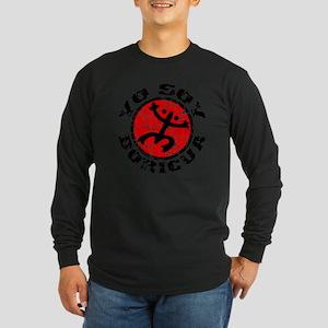 Yo Soy Boricua Black-Red Long Sleeve Dark T-Shirt