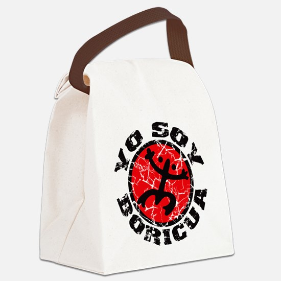 Yo Soy Boricua Black-Red Canvas Lunch Bag